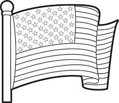 Printable American Flag First Coloring Page