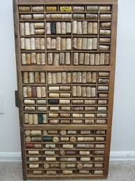 Wine Bottle Cork Holder Wall Decor by Vintage Hamilton Letterpress Printers Tray Upcycled With