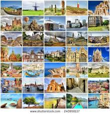 Collection Of Photos With Travel Destinations From All Over The World