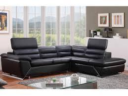 canap d angle cuir noir canapé d angle gauche ou droit en cuir noir fergus