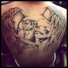 Fallen Angel Tattoo On Back Of Neck Photo 11