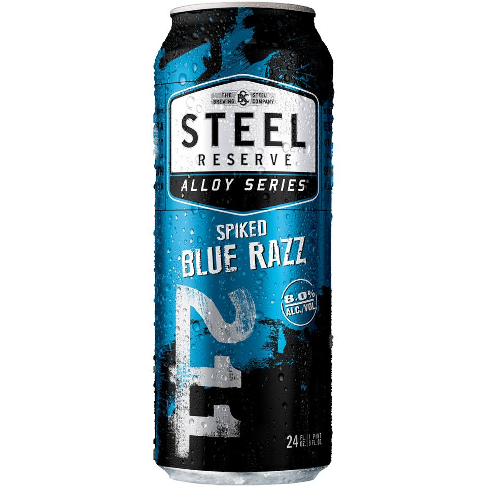 Steel Reserve Alloy Series Spiked Blue Razz Beer 24 Fl. Oz. Can