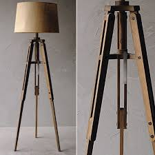 Wooden Tripod Floor Lamp Target by Brilliant Wood Tripod Floor Lamp With Burlap Shade Antique