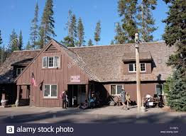 100 Cabins At Mazama Village The At Motor Inn Registration Building Stock