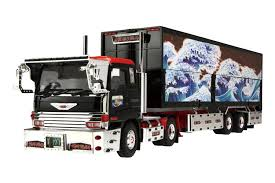 Amazon.com: Aoshima 07051 Japanese Wing Trailer Truck