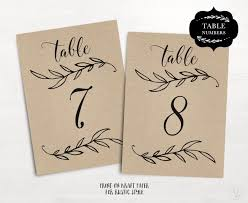 Wedding Table Numbers 1 40 Rustic Template Flat Reserved And Head Signs Included 2 Sizes 5x7 4x6 TN09