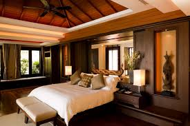 Master Bedroom Decorating Ideas With Dark Furniture Modern Design Attic Wooden Ceiling Large