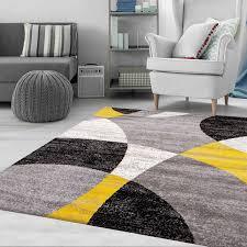 wohnzimmer teppich geometrische meliert in grau weiß schwarz