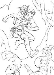 Click To See Printable Version Of Yoda Riding On Luke Skywalkers Back Coloring Page