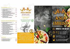 speisekarte asia imbiss restaurant neunburg vorm wald