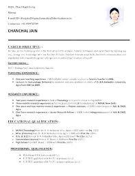 Sample Resume For Freshers Free Teachers Format Of Teacher