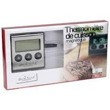 thermometre cuisine pas cher thermomètre de cuisson électronique avec sonde pas cher à prix auchan