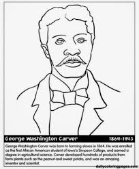 Free Coloring Page George Washington Spectacular Black History Printable Pages
