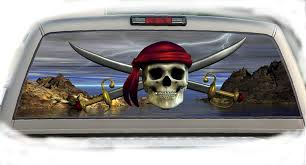 100 Pickup Truck Rear Window Graphics Amazoncom Pirate 17 Inchesby56 Inches Compact