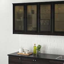 jutis vitrinentür rauchglas schwarz 40x80 cm