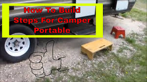 100 Truck Camper Steps How To Build Wood RV Portable For RV YouTube