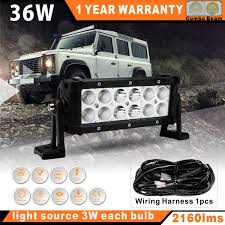 1PCS 36W 8Inch LED Work Light Bar For OffRoad Truck Light Bar Wiring ... 4 Inch 48w Square Led Work Light Off Road Spot Lights Truck Pin By Danny On Under Leds Pinterest Grilles Black 8w 55 Inch Led Forklift Safety Blue Light Safe Zroadz Offroad Kit 2018 5x7 Headlight Daymaker Sealed Beam Replacement Dot 201518 Automatic Engine Bay Hood F150ledscom Hightech Lighting Rigid Industries Adapt Bar Recoil How To Install Lite 2013 Jeep Wrangler Jk Diy Youtube 185w Car Led Lamp Truck 9 Inch Headlight 12v 24v Tractor Automotive Household Trailer Rv Bulbs Mini Roadtech Services Inc