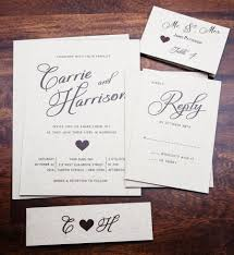 Rustic Wedding Invitation Invitations Elegant Simple Classic Country Heart