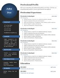 New Resume Format Technical Special Curriculum Www Qhtypm