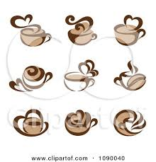 Clipart Coffee Cup And Heart Steam Icons