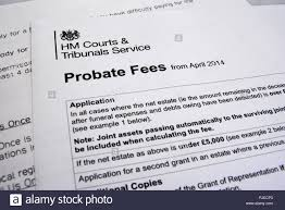 HM Courts Tribunals Service Probate Fees Letter Heading Paperwork