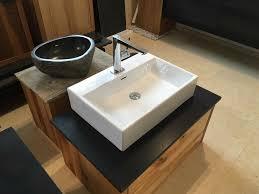waschtisch massivholz granit keramik waschbecken naturstein bad