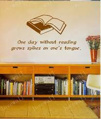 Wall Decal Stcker Decals Decor Bedroom Room Vinyl Romoveralble Two Books With Words Library Bed