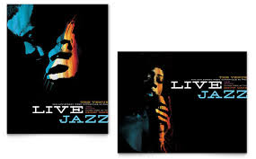 Jazz Music Event Poster Template Design