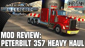 American Truck Simulator Peterbilt 357 Heavy Haul | Mod Review - YouTube