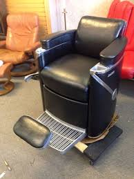 Fully Reclining Barber Chair by 1958 Vintage Koken President Barber Chair With Headrest We Freight