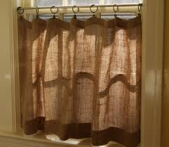 Target Curtain Rods Tension by How To Make Burlap Cafe Curtains Guest Post U2022 The Prairie Homestead