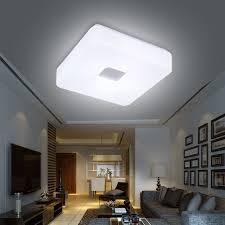 modern led flush mounted square shape led ceiling light for living