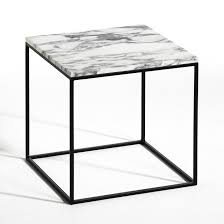 la redoute bout de canap bout de canapé métal noir et marbre mahaut am pm la redoute