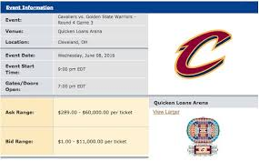 how much cavs 2016 nba finals tickets cost before thursday s