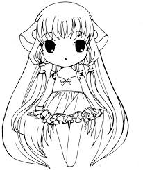 Cute Girl Anime Coloring Page