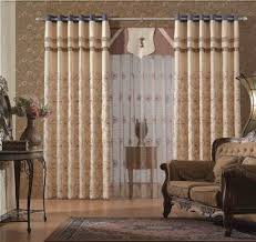 Modern Window Curtains For Living Room by Gold Living Room Windows Curtain And Drapes With Red Pattern Also