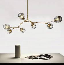 gold metall hängende le wohnzimmer esszimmer leuchten