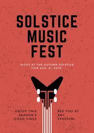 Red Guitar Grunge Modern Rock Music Event Poster