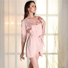 Bathrobe Women Bridesmaid Robes Soft Sexy Short Kimono Robe Home Dressing Gown Half Sleeve Pink Silk Wedding