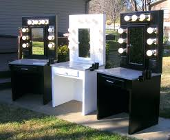 desk makeup vanity table with lights and mirror diy makeup