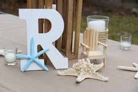 Monogram Wedding Beach House Decor Starfish Centerpiece Sweetheart Table