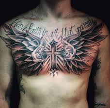 Collection Of 25 Tribal Cross Tattoo On Chest For Men