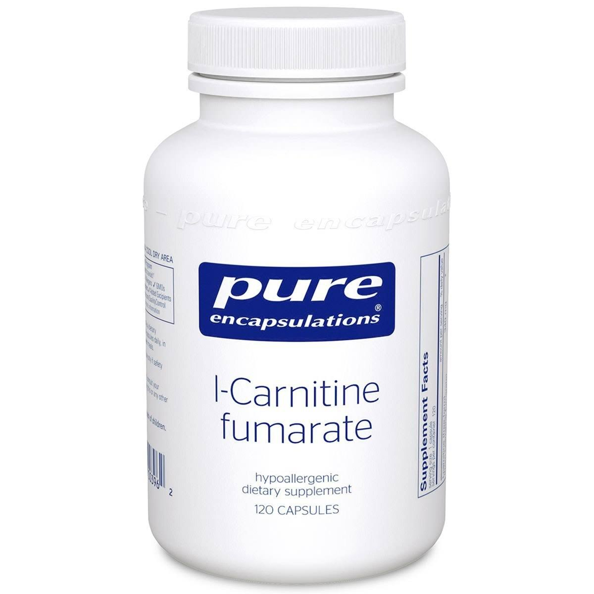 Pure Encapsulations L-Carnitine Fumarate Supplement - 340mg 120ct