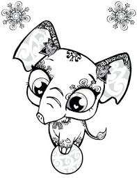 Cute Kawaii Animal Coloring Pages Para A