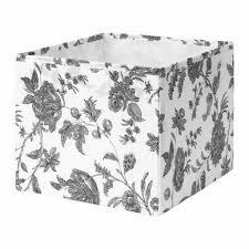 gopan ikea box schwarz weiß geblümt 30x30x25 kaufland de