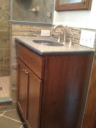 Small Double Vanity Sink by Bathroom Pretty White Porcelain Bowl Sink Added Oak Corner Small