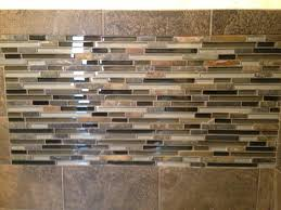 slate subway tile with glass mosaic vanity backsplash and accent
