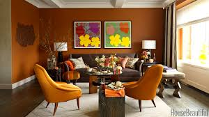 Brown Furniture Living Room Ideas by 14 Best Shades Of Orange Top Orange Paint Colors