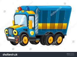 100 Funny Truck Pics Cartoon Happy Police Isolated Stock Illustration