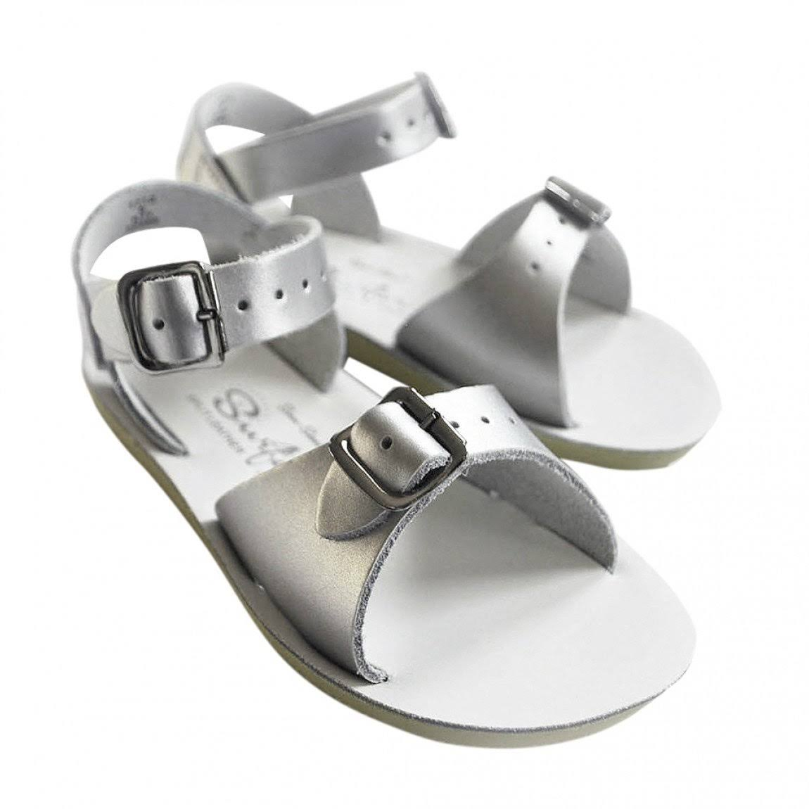 Salt-Water Kids' Surfer Sandal - Silver